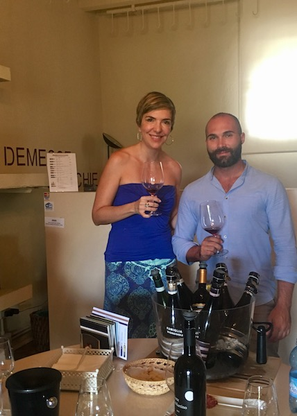 With Simone from Famiglia Olivini winery