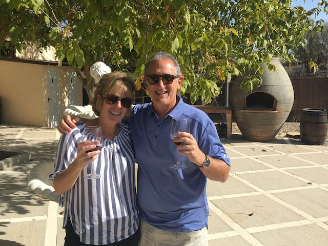 Gerry and Diane from New Jersey during our wine tour!