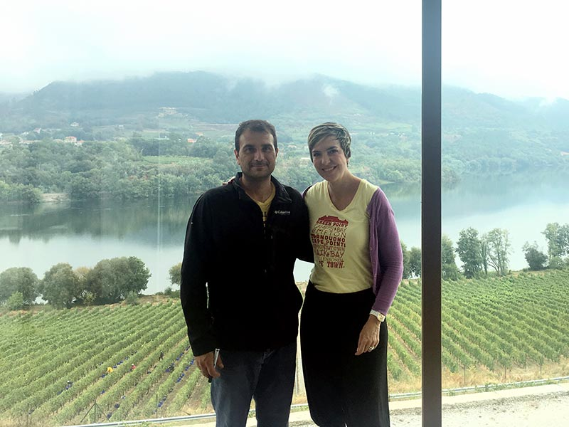 Ramón Do Casar and Javier the oenologist, one of the fabulous Spanish wineries in Ribeiro by Colorful wines