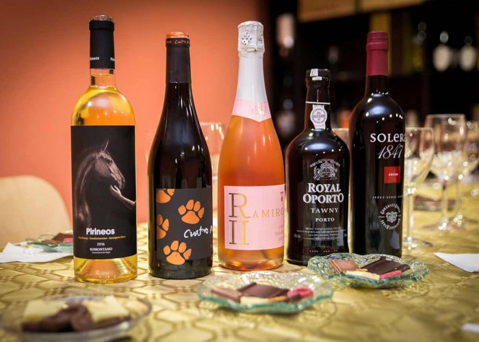 wine and chocolate pairing colorful wines