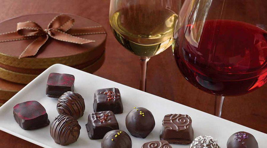 cata-vino-chocolate. Uvas francesas