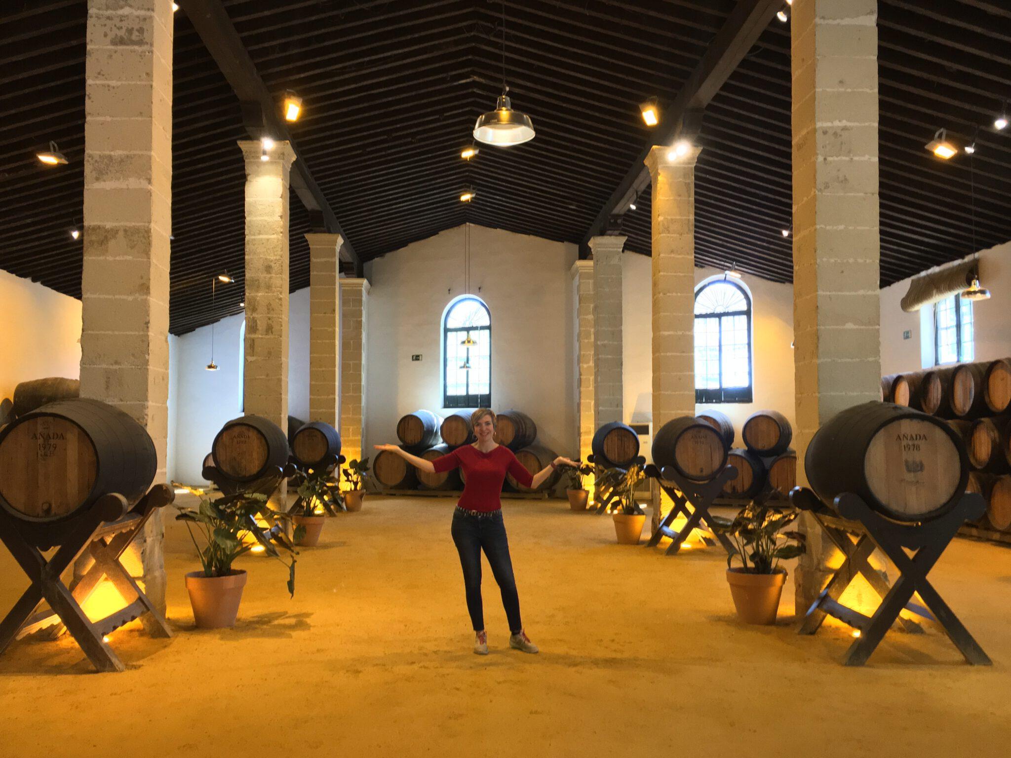 Jimena visiting Jerez_Bodegas Tío Pepe